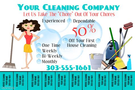 janitorial flyer templates make free home cleaning flyers postermywall