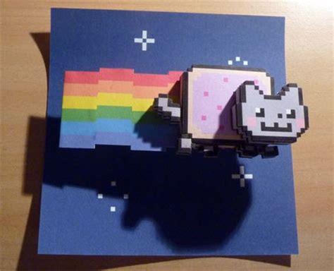 Moving Papercraft - nyan cat paper paperkraft net free papercraft