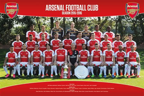 arsenal photography arsenal fc 2015 16 team squad photo poster football