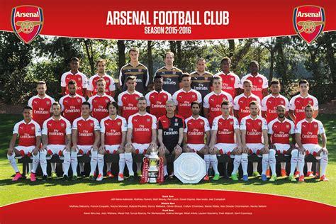 arsenal photography arsenal fc 2015 16 team squad photo poster football