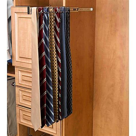 tie rack bed bath and beyond buy rev a shelf 174 23 hook side mount tie rack in chrome
