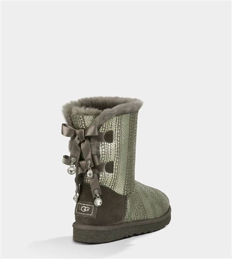 ugg bailey bow bling boots 1004791 grey uggyi00000080