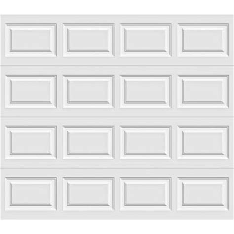 8x7 Garage Door Home Depot clopay premium series 8 ft x 7 ft 12 9 r value intellicore insulated solid white garage door
