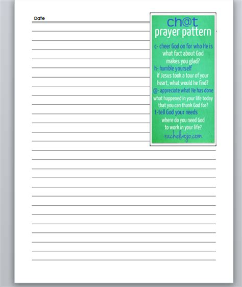 free printable prayer journal template calendar template