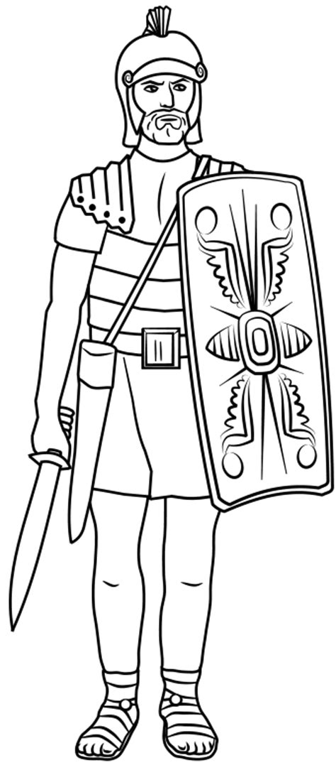 printable roman images roman coloring pages