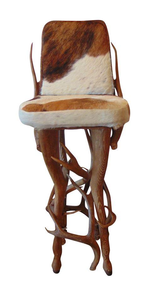 Bar Stools Deer by Vintage Rustic Deer Antler Hide Bar Stool Chairish