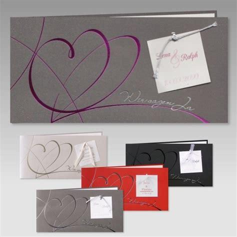 Einladungskarten Hochzeit Ja by Elegante Hochzeitseinladung In Grau Mit Wir Sagen Ja
