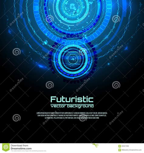 Sci Fi Card Frame Template by Futuristic Interface Infographics Hud Vector Background