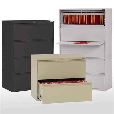 Metal Lateral File Cabinets Sandusky Cabinets Lf8f422 Lf8f424 Lf8f425 800 Series Lateral File Cabinets 42 W Metal
