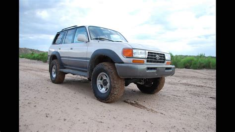 1996 land cruiser lifted 1996 land cruiser before after old man emu lift youtube
