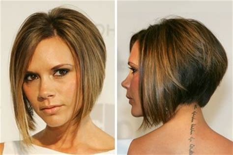 hairstyles for thin hair at the front short inverted bobs front and back view what s your best