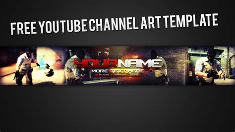 sick free photoshop youtube channel art template youtube