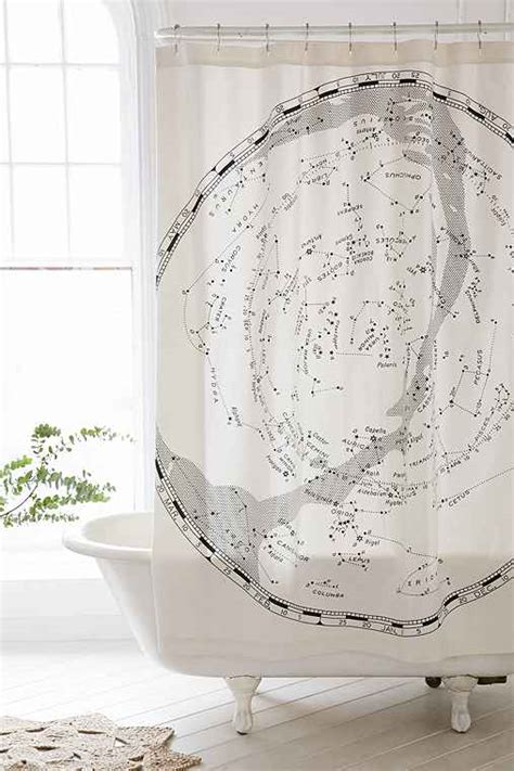 constellation shower curtain magical thinking constellation map shower curtain urban