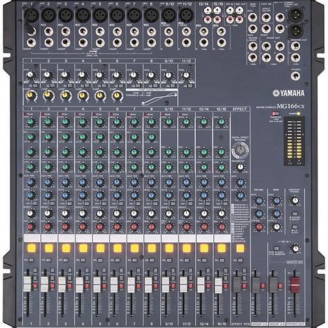 Mixer Audio Yamaha 16 Channel yamaha mg166cx 16 channel mixer with compression and