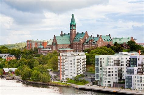 buy house in stockholm municipal houses and hospital in stockholm sweden stock photo colourbox
