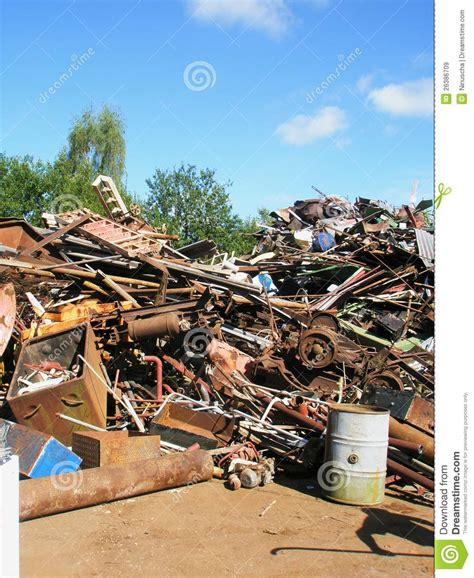 scrap yard metal waste stock image image of demolition