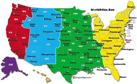 us time zone map with cities current dates and times in u s states map