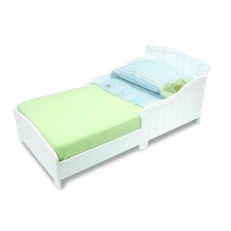white wood toddler bed kidkraft nantucket wood toddler bed in white 86621