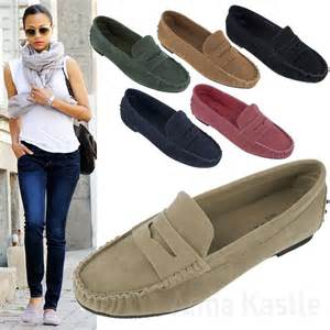 womens driving shoes annakastle new womens suedette classic loafer