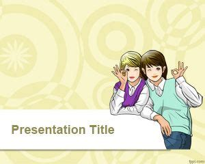 best friends forever powerpoint template free powerpoint