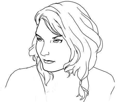 line art portrait tutorial female portrait line art by daeyeth on deviantart
