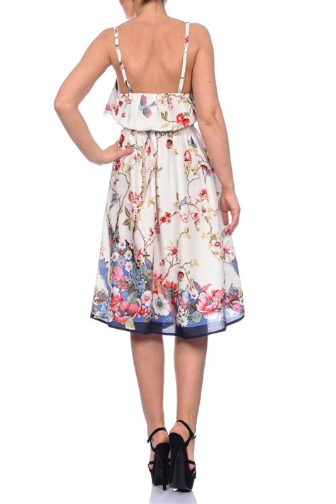 Poppi Dress Blue pistachio womens floral poppy knee length