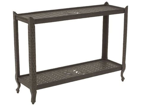 Patio Sofa Table Suncoast Cast Aluminum 48 X 16 Rectangular Metal Console Table 200368