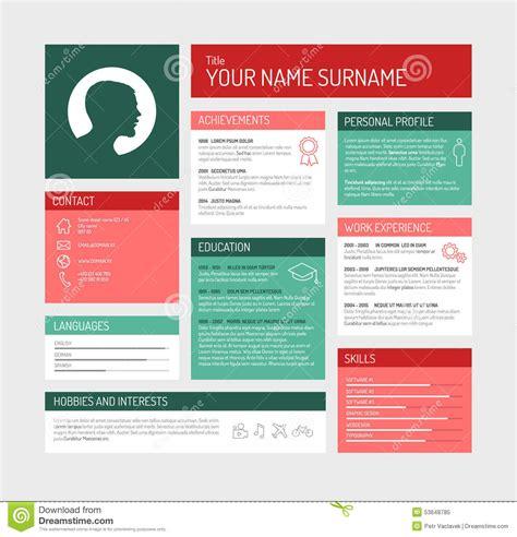 Simple Profile Dashboard Template Stock Photography Cartoondealer Com 50593568 Simple User Profile Html Template
