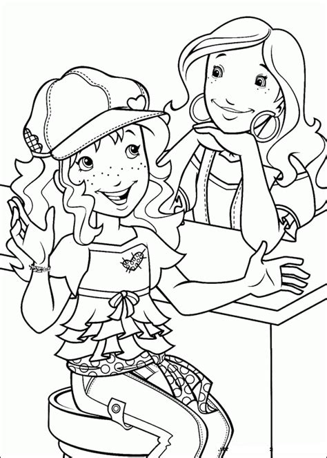 holly hobbie coloring pages coloring home