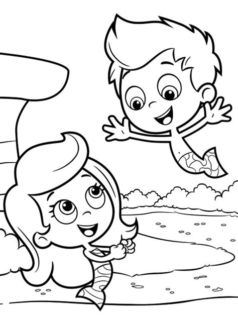 Bubble Guppies Coloring Books Kids Coloring Europe Guppies Colouring Pages