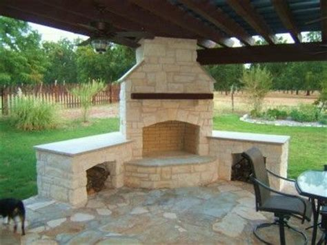 outdoor fireplace house