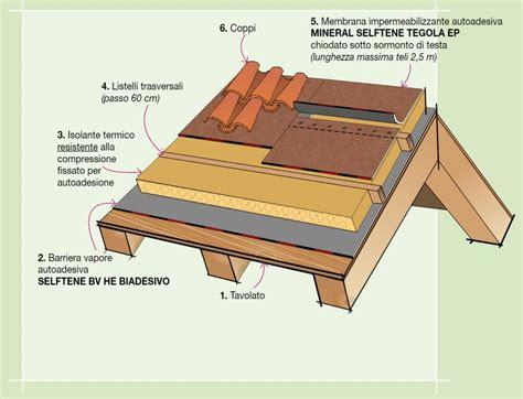 impermeabilizzazione terrazzo pavimentato dettaglio stratigrafia sottotetto abitato ventilato
