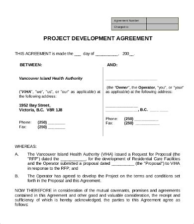 project partnership agreement template development agreement template 9 free word excel pdf
