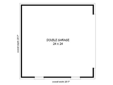Plan 007g 0006 Garage Plans by Two Car Garage Plans 25 7x25 7 Two Car Garage Design