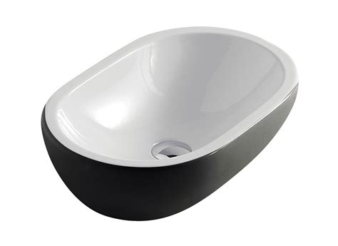 Black And White Vessel Sink midas ceramic black and white ultra modern black and