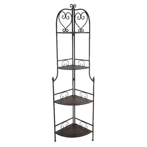 ETAGERE D'ANGLE TABLETTE FER FORGE CHARME   Achat / Vente