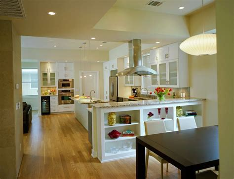 open kitchen to dining room creating an open kitchen and dining room