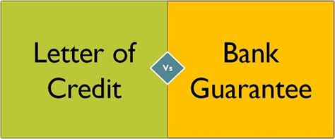 Financial Guarantee Vs Letter Of Credit Difference Between Letter Of Credit And Bank Guarantee With Comparison Chart Key Differences