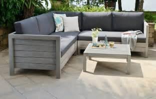 Home lodge wooden garden sofa set