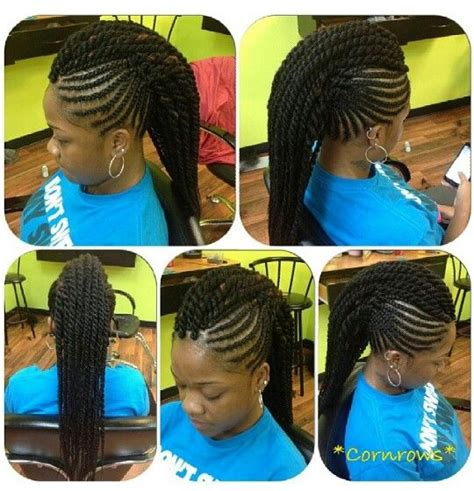 marley hair mohawk style cornrows with mohawk marley twists braid it up