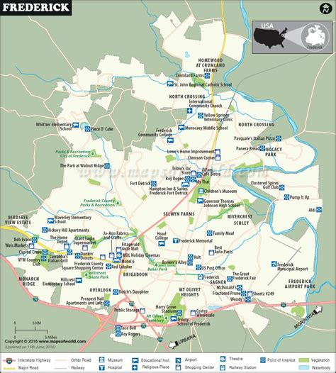maryland map frederick frederick map city map of frederick maryland