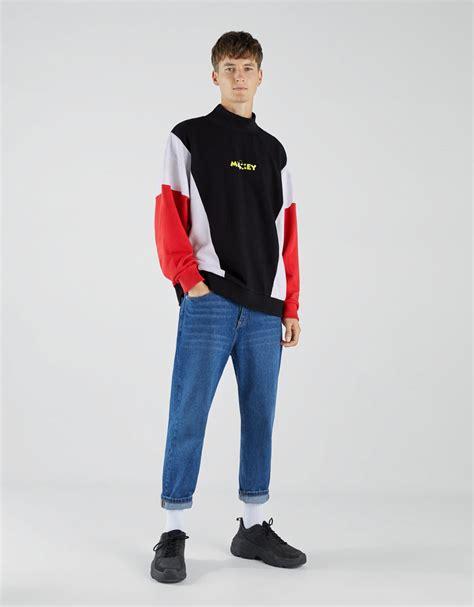 Bershka Sweatshirt Mickey Print sweatshirts clothing bershka mainland china 中国大陆