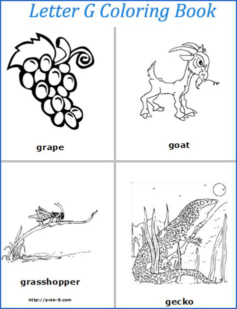5 best images of letter g printable book words that
