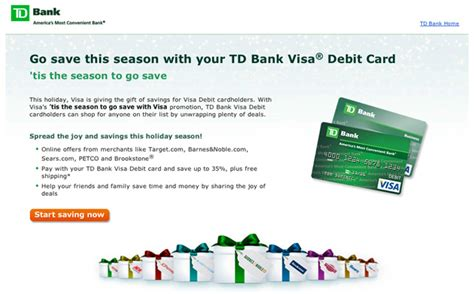 Tdbank Gift Cards - td bank and visa team up to bring you holiday savings mybanktracker