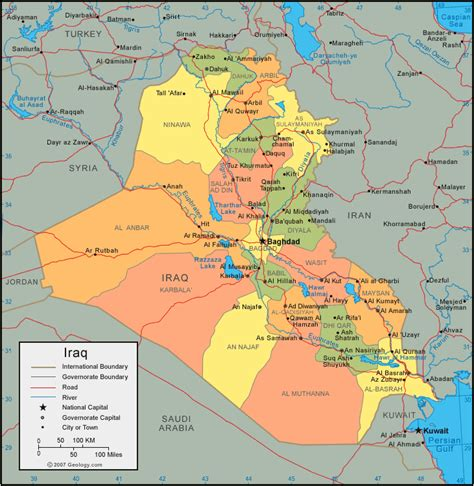 map for iraq free printable maps a detailed map of iraq printfree