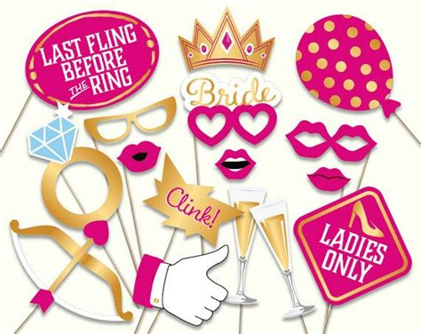 hens night photo booth props printable bachelorette photo booth props photoshoot ideas for