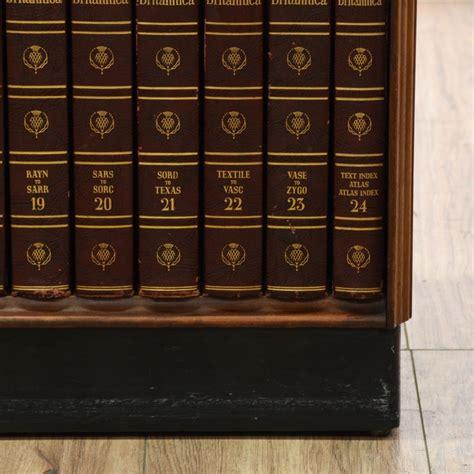 Encyclopedia Britannica Bookcase Art Deco Bookcase W Encyclopedia Britannica Set