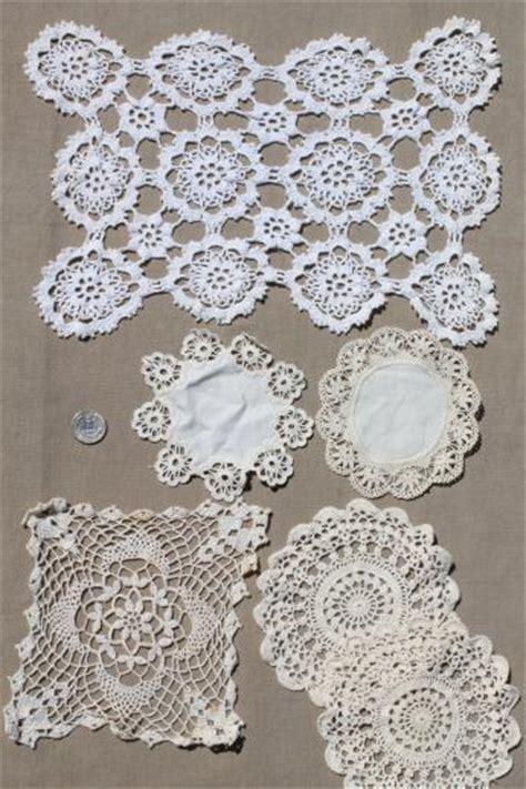 Handmade Doily - vintage crochet doily lot handmade doilies crocheted