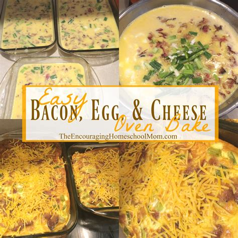 printable easy bake oven recipes easy bacon egg and cheese oven bake recipe large