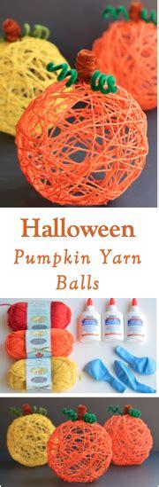 halloween decorative balls how to make a decorative halloween pumpkin yarn ball